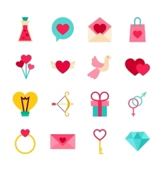 Happy Valentine Day Objects vector image vector image