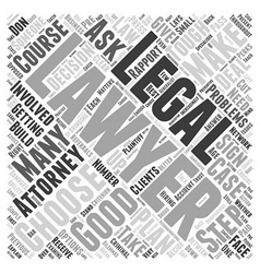 How to choose an attorney word cloud concept vector