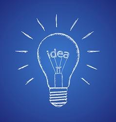 lamp idea Stock vector image vector image