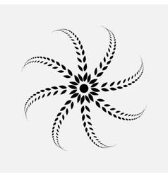 Laurel wreath tattoo Black ornament sign on vector image