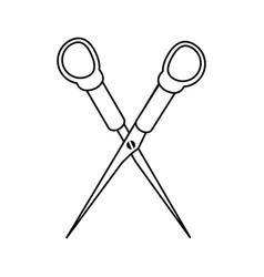 Medical scissors healthcare related icon image vector