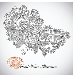 ornate flower design vector image vector image