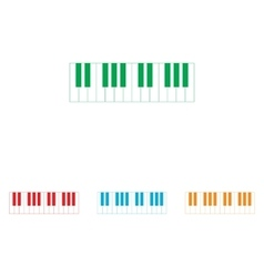 Piano keyboard sign vector