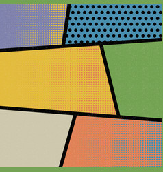 pop art comic book strip retro background vector image