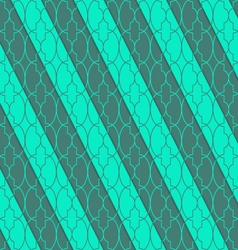 Retro 3d green oval marrakech vector