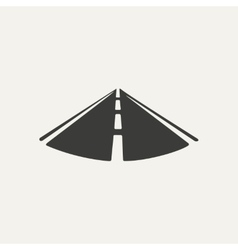 road Black and white style vector image vector image