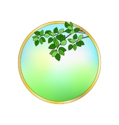 Round frame with leaves vector image vector image