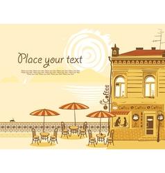 sea cafe vector image vector image