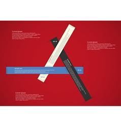 Three long ribbons infographic vector