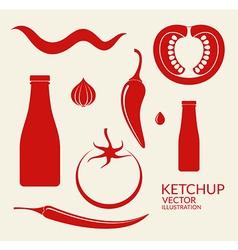 Tomato Ketchup vector image