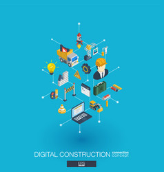 website under construction integrated 3d web icons vector image vector image