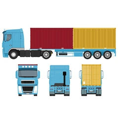 Container truck set vector