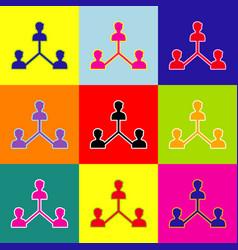 Social media marketing sign  pop-art style vector