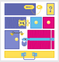 furniture fittings door furniture and accessories vector image