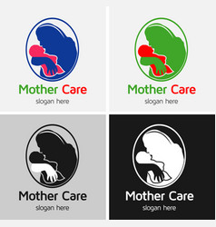 Mother baby care logo vector