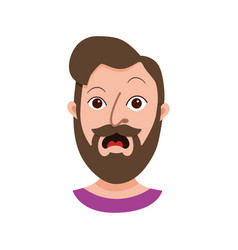 Male hipster cartoon character vector