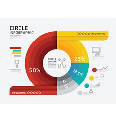 Modern infographic banner circle geometric vector