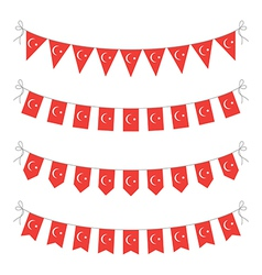 Turkey bunting vector