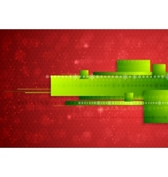 Bright abstract tech Christmas background vector image