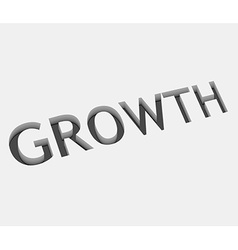 Growth text design vector