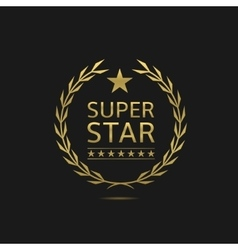 Super star badge vector