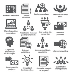 Business management icons pack 09 vector