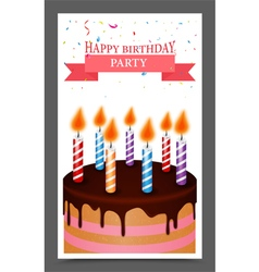 Birthday greeting and invitation card design vector