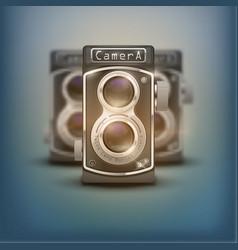 Vintage twin lens reflex cameras vector