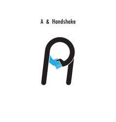 A-letter icon abstract logo design vector
