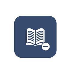 catalog remove icon vector image