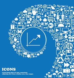 Chart icon sign nice set of beautiful icons vector