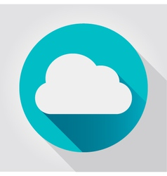 Cloud icon flat design vector image