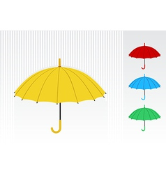 Color umbrellas vector image vector image