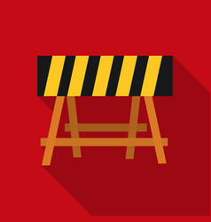 construction barricade icon in flate style vector image vector image