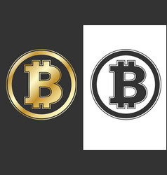 Crypto currency bitcoin symbols vector