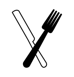 Cutlery kitchen tool icon vector