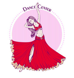 dance line color belly dance vector image vector image