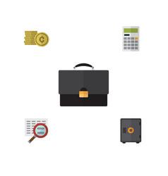 flat exchequer set of cash strongbox portfolio vector image