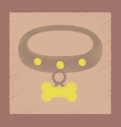 Flat shading style icon dog collar vector