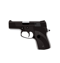Handgun isolated on white background vector image vector image