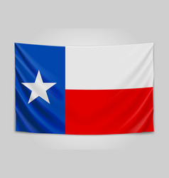 hanging flag of texas state flag concept vector image vector image
