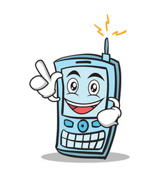 have an idea phone character cartoon style vector image