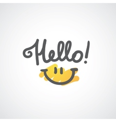 hello lettering vector image