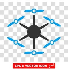 Hexacopter eps icon vector