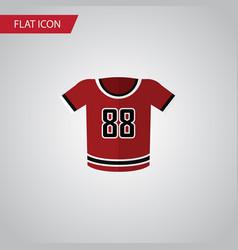 Isolated uniform flat icon t-shirt element vector