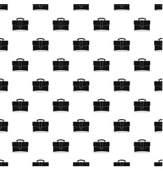 Leather briefcase pattern vector