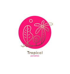 logo palm vector image