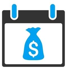 Money bag calendar day toolbar icon vector