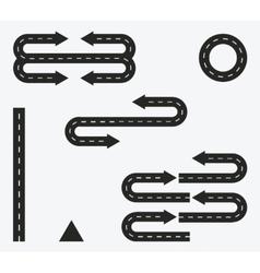 road set elements design on white vector image