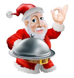 Santa with food vector